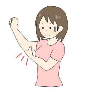 二の腕の外側と内側それぞれの痛みの原因と治療法!