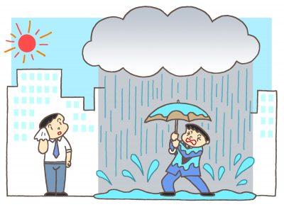 ゲリラ豪雨が発生する原因と3つの対策!前兆はあらわれる?